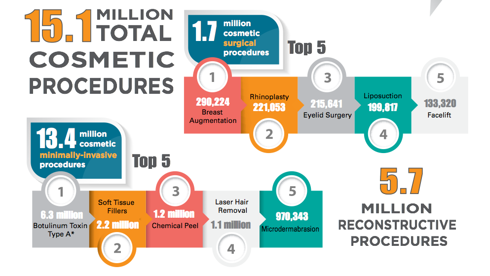 2013 National Plastic Surgery Stats by American Society of Plastic Surgeons